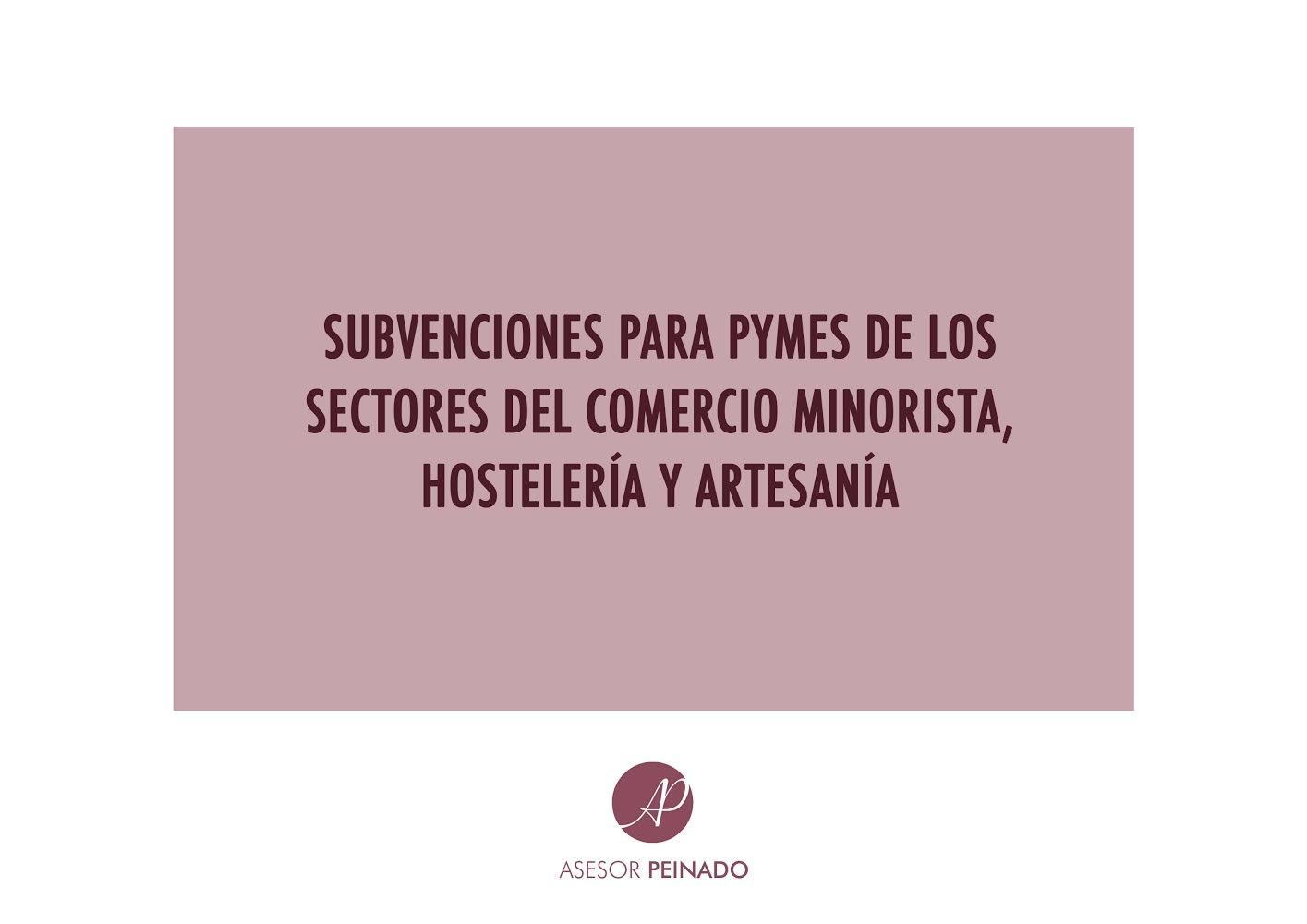 Subvenciones para pymes de los sectores comercio minorista, artesanía y hostelería