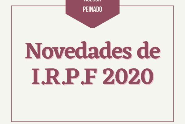 Novedades IRPF 2020